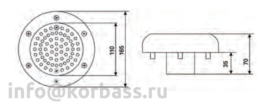 Водозабор IML из ABS-пластика для пленочного бассейна