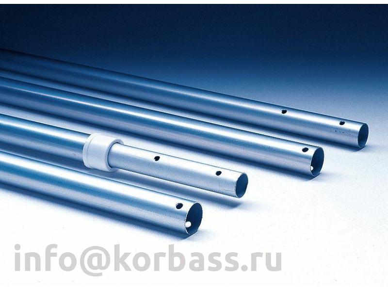 Телескопическая алюминиевая штанга 4,0-7,5 м. для бассейна крепление гайки-барашки